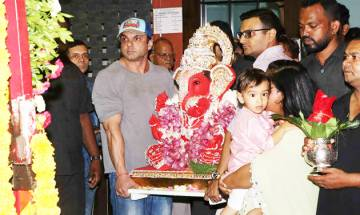 Ganesh Chaturthi 2017: Salman Khan's sister Arpita and nephew Ahil celebrate Ganpati Visarjan