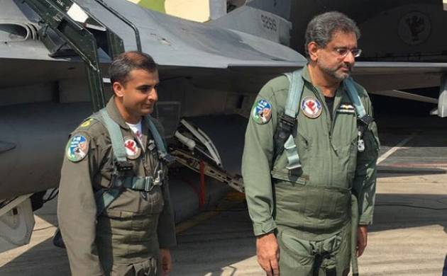 The 58-year-old became the first-ever prime minister of Pakistan to participate in an air force sortie (Twitter)