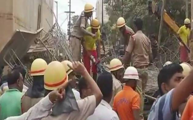 Bhubaneswar flyover collapse kills two, five still trapped under debris; rescue operations on