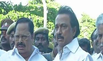 MK Stalin led opposition meets Tamil Nadu governor, wants Trust Vote for E Palanisami