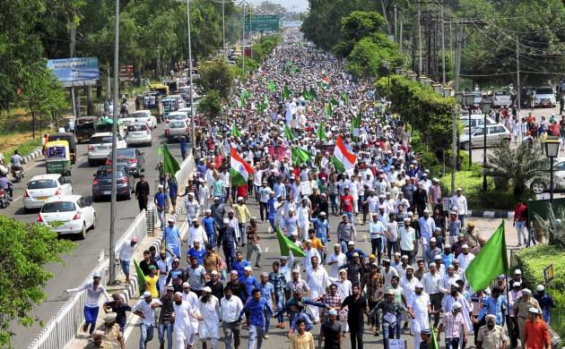 Protests against Rohingya genocide in India (PTI Photo)