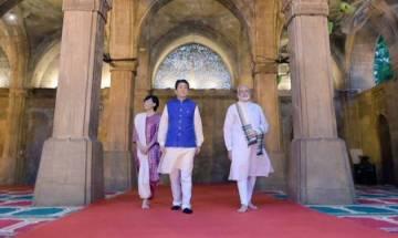 After mega roadshow, PM Modi, Japanese PM Abe visit Sabarmati Ashram, Sidi Saiyyid Ni Jaali mosque in Ahmedabad