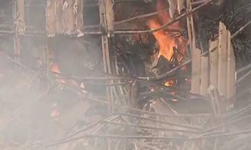 Mumbai: Massive fire breaks out at sets of TV show 'Super Dancer' at RK Studio in Chembur, 6 fire tenders at spot