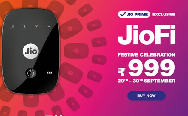 Festive offer: Reliance JioFi price slashed to Rs 999 (Source: www.Jio.com)