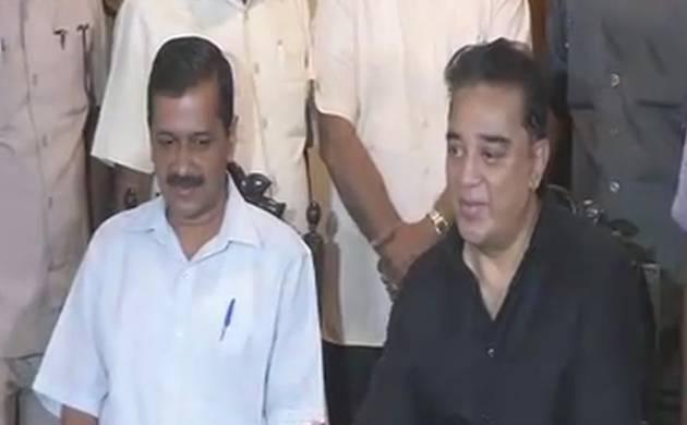 Chennai: Kejriwal meets Haasan, says actor should join politics (Source: ANI)
