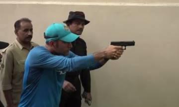 Watch | Dhoni's pistol shooting skills stumps Kolkata Police