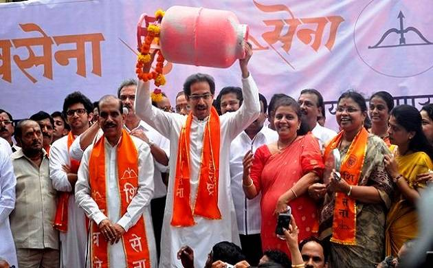 The Sena also threatened to launch a nation-wide stir if fuel prices were not brought down (File)