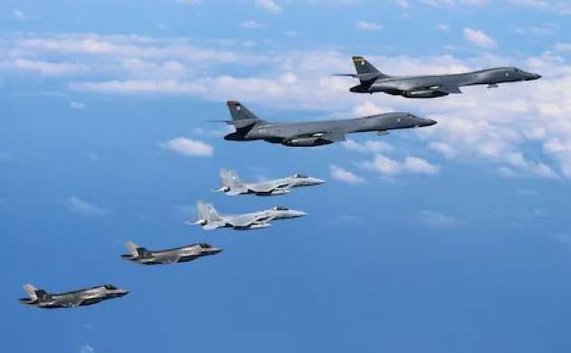 US bombers fly off the east coast of North Korea to display strength: Pentagon (File Photo)