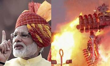 Dussehra 2017: President Kovind, PM Modi participate in Ravana Dahan at Red Fort ground
