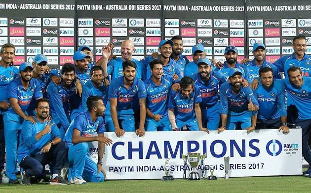 India vs Australia, 5th ODI: 'Men in Blue' thrash Aussies by 7 wickets (Source: Virat Kohli's Twitter)
