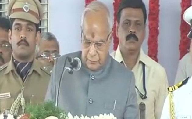 Banwarilal Purohit takes oath as Governor of Tamil Nadu (Image: ANI)