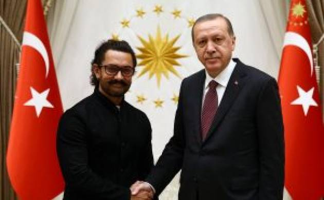 Bollywood superstar Aamir Khan meets Turkish President Erdogan in Ankara. (Twitter)