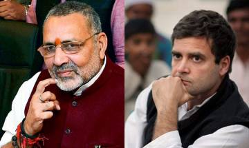 Rahul Gandhi fond of reading scripts, claims Giriraj Singh; Congress hits back