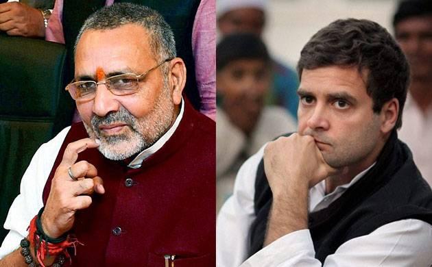Rahul Gandhi fond of reading scripts, claims Giriraj Singh; Congress hits back