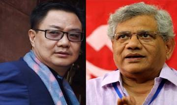 Left, BJP engage in verbal tirade over Kiren Rijiju's remark, will not quite warns Yechury