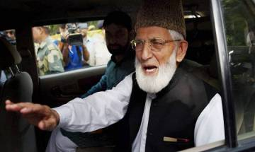 Geelani says Union Home Minister's remark 'admission' that Kashmir not part of India
