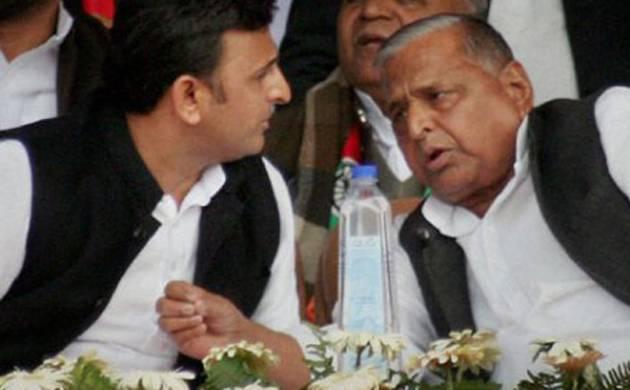 Mulayam Singh Yadav and Akhilesh Yadav (file photo)