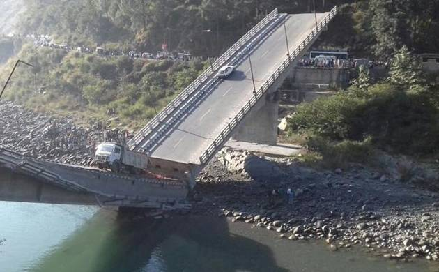 Himachal Pradesh: 6 injured after bridge collapses in Chamba (Source: ANI)