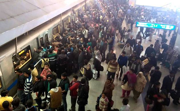 Trains on Delhi Metro's blue line running late due to technical glitch (Image: PTI)