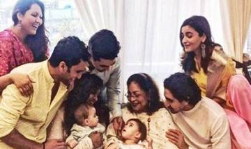 Alia, Varun, Sidharth celebrate five years of SOTY with KJo's little twin Yash and Roohi (see pics)