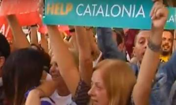 Barcelona referendum 2017: 450,000 protests at the streets as threats of violence looms large