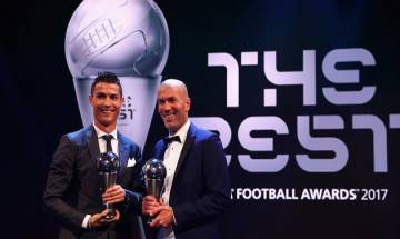 FIFA Football awards 2017 : Cristiano Ronaldo bags  Men's player of the year title ,Zidane declared men's best coach