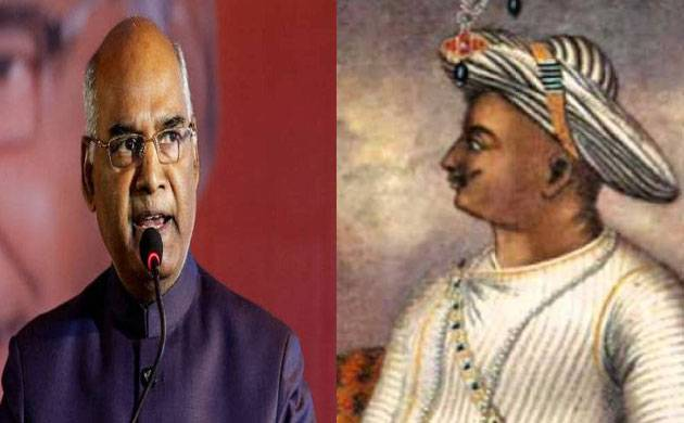 President Kovind speaks good about Tipu Sultan; BJP, Congress engage in war of words