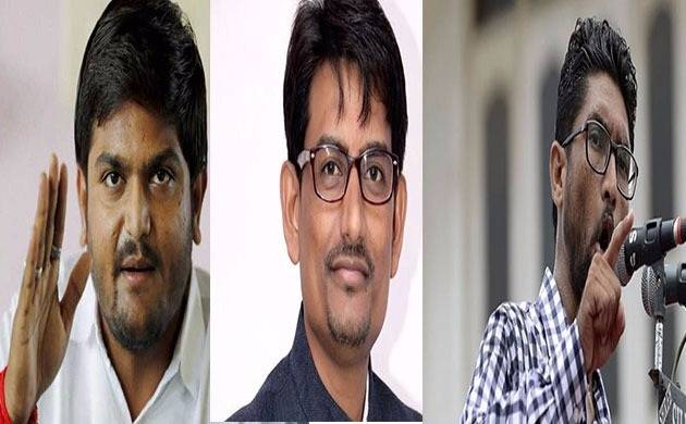 Gujarat Assembly Elections 2017: Three youth leaders — (Left to right) Hardik Patel, Alpesh Thakor, Jignesh Mewani — can be spoilsport for BJP, Know How
