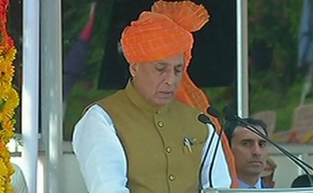 Rajnath says world is facing problems like terrorism, cyber terrorism (Image: ANI)