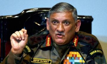 Army Chief Bipin Rawat says Indian, Chinese troops in Doklam but not in eyeball to eyeball contact