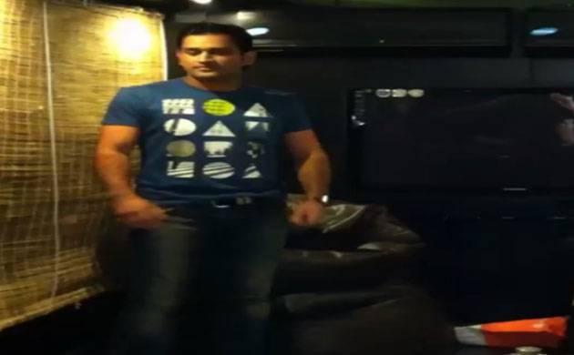 Dhoni's dance moves on John's 'Desi Boyz' song amuse wife Sakshi