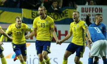 Italy in danger of missing berth at 2018 FIFA World Cup after Sweden wins first play-off