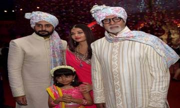 Must see: Amitabh Bachchan, Abhishek, Aishwarya & Aaradhya look ravishing in their latest pics from a wedding function