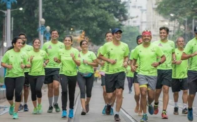 Kolkata based running group called Kolkata Road Runners, or KRR (Photo Courtesy: Sayantan Dasgupta)