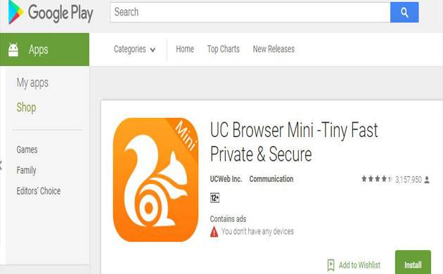 Alibaba's UC Browser removed from Google's play store; know why