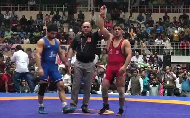 Sushil Kumar wins Gold in National Wrestling Championships