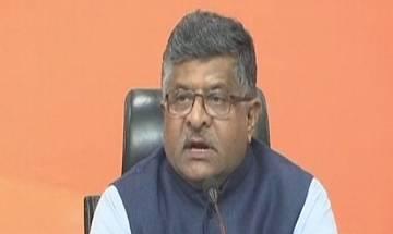 Union Minister Ravi Shankar Prasad attacks Congress on Winter Session and Demonetisation