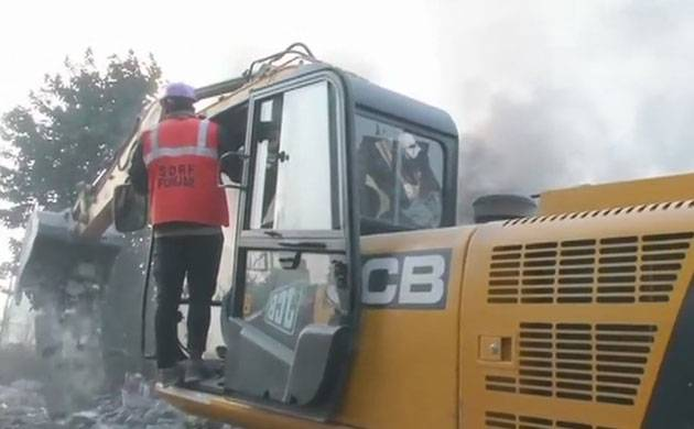 Ludhiana fire breakout, rescue operations underway (Courtesy: ANI)