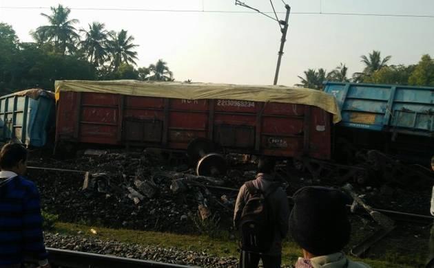 Goods train derails in Odisha, no casualty reported (Source: ANI)