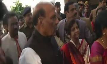 UP civic polls 2017: Home Minister Rajnath Singh casts vote in Lucknow