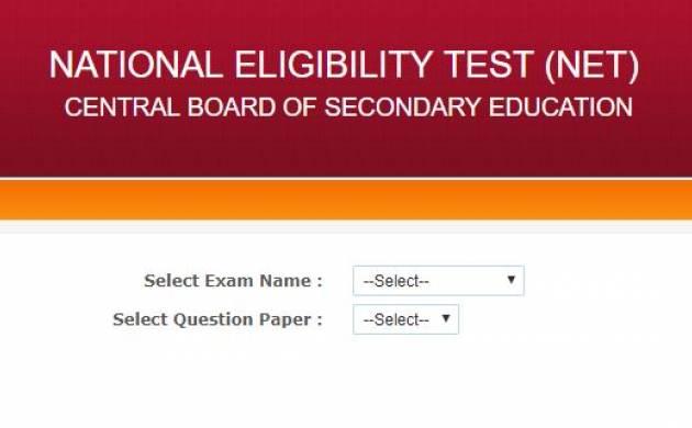 CBSE UGC NET Question 2017 paper released at cbsenet.nic.in