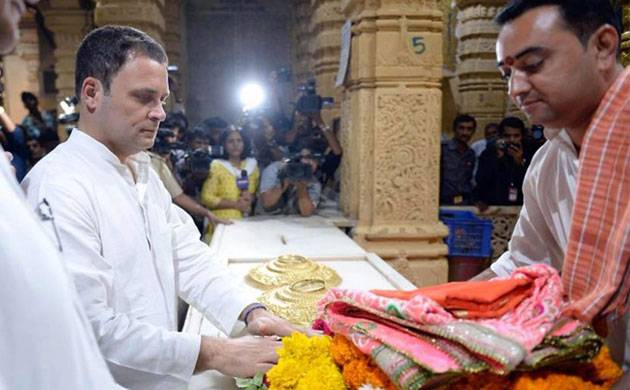Rahul's Somnath Temple visit: Cong releases his 'janeu dhari' photo (File Photo)