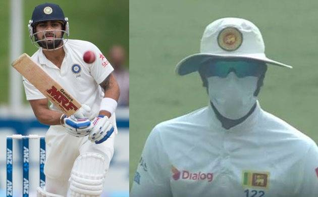 Indian team takes a dig at Sri Lankan players, says Virat Kohli did not require pollution mask to bat nearly two days