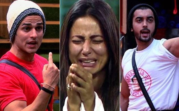 Bigg Boss 11: Luv Tyagi-Priyank Sharma engage in an UGLY fight; Hina Khan BREAKS down in tears
