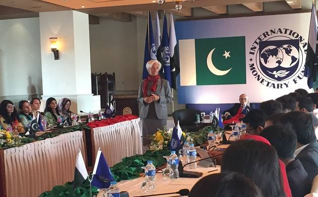 The IMF's statement comes shortly after the visit of its officials to Pakistan. (Source: IMF_Pak twitter)