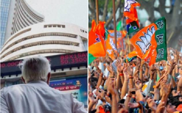 Riding high on exit poll results, Sensex shoots over 350 points
