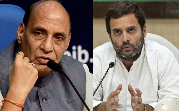 Rajnath Singh attacks Rahul Gandhi; says 'BJP dousing fire lit by Congress'