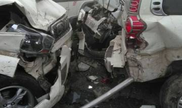 Dense fog leads to car pile-up on Lucknow-Agra Expressway injuring over a dozen