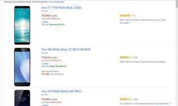 Amazon Vivo Carnival: Attractive discounts, cashbacks on Vivo smartphones including V7, V7+