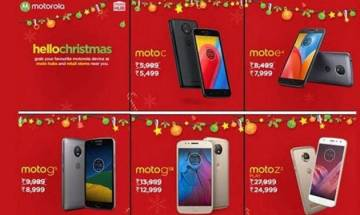 Moto smartphones get a Christmas sale discount in India